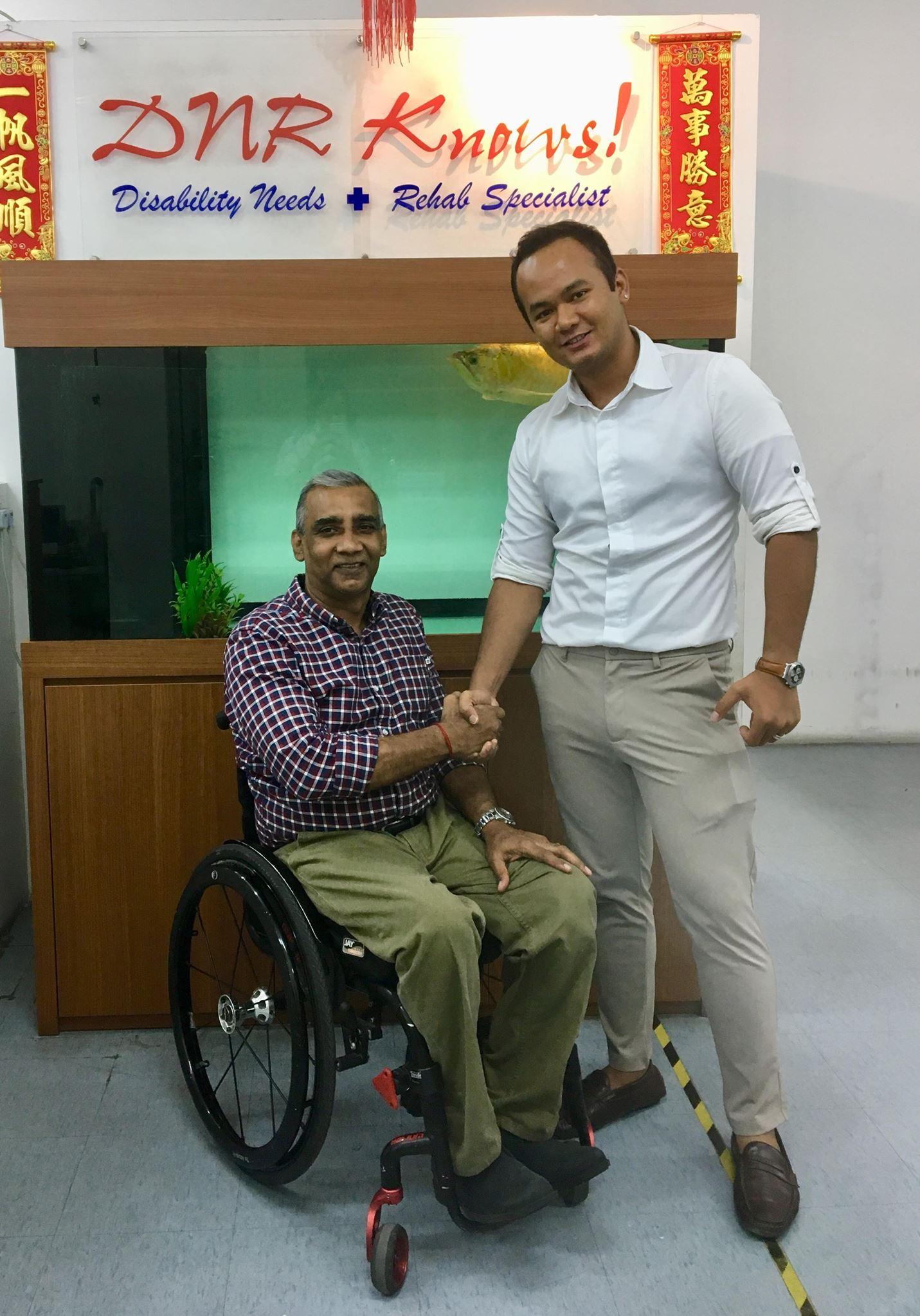 Mr Joe (MD, Shwe Myanma Thway - Myanmar) and Mr Raja (DNR - Singapore)
